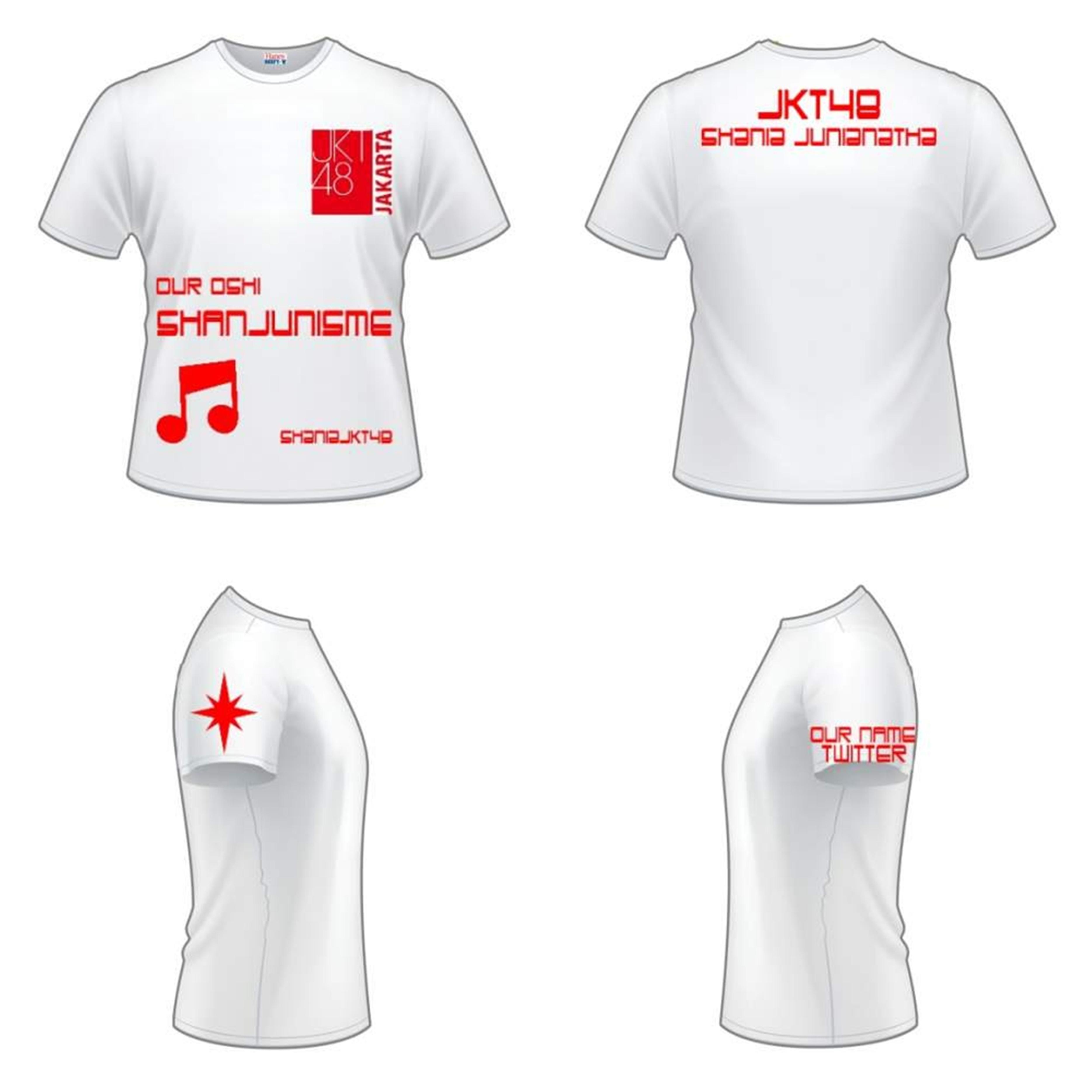Desain t shirt jkt48 - Iklan